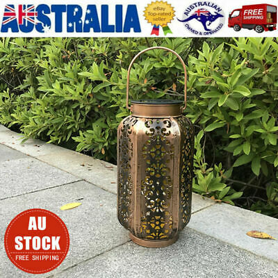 LED Solar Lantern Palace Lamp Hanging Outdoor Waterproof Solar Light for Pathway