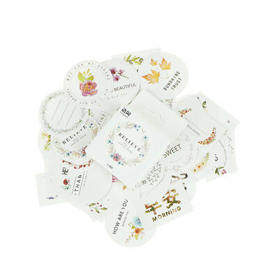 50pcs/box Flowers Paper Sealing Stickers Scrapbooking DIY Diary Album Labels CR