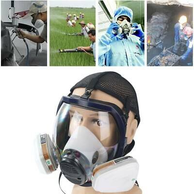 6800 Gas Mask Full Masks Facepiece Respirator For Painting Spraying ChemistryX1