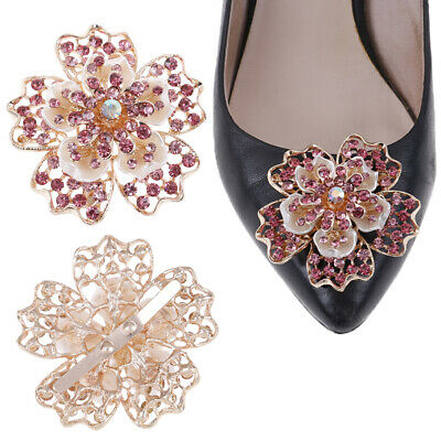 1Pc Rhinestone women crystal shoe clip decor girls shoes charm clip buc IO