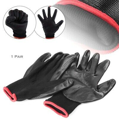 1 Pair Safety Work Gloves Nylon PU Palm Coated Protective Garden Grip Builders