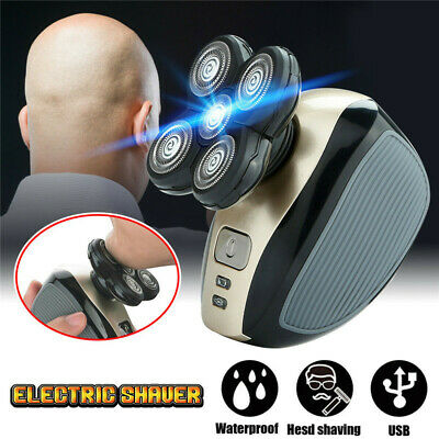 Men 4D Rotary Electric Shaver Rechargeable Bald Head Shaver Beard Trimmer