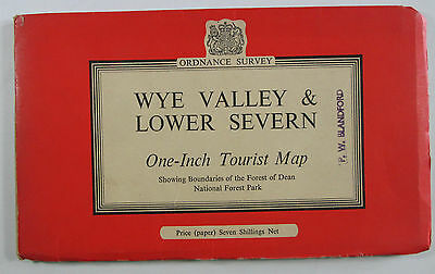 1961 Old OS Ordnance Survey One-Inch Tourist Map Wye Valley & Lower Severn