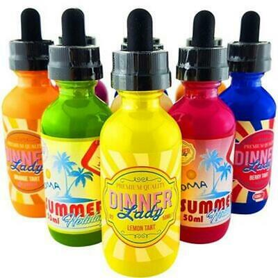 Dinner Lady E-Liquid Premium Liquid E-Zigarette Lemon Tart 50 ml 0 oder 3 mg Nik