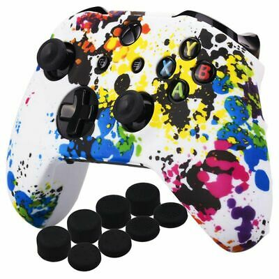 Printing Silicone Cover Skin Case for Xbox One S/X Controller x 1(Graffiti) P5T8