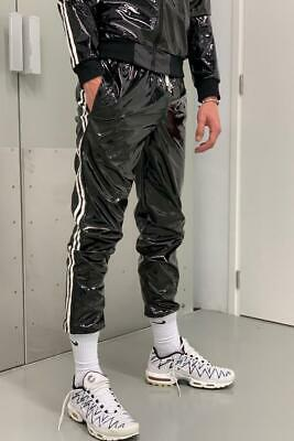 PVC Tracksuit jacket white stripes or pants Lack Trainingsanzug Skater GAY NEU