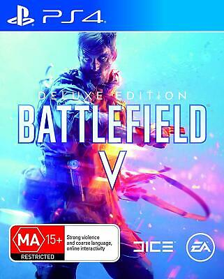 Battlefield V 5 Deluxe Edition Sony PS4 Playstation 4 WW2 Shooter Game BFV BF5