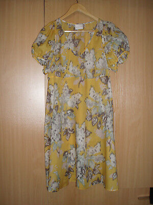 7f05355369 Bitte Kai Rand 68% Cotton 32% Silk Short Sleeve Floral Dress Size L