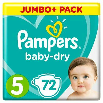 Pampers Baby Dry Size 5 Jumbo 72 Nappies . NEW SEALED PACKAGING