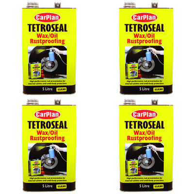 Tetroseal Wax/Oil Waxoyl Rustproof Protection Clear 5L x 4