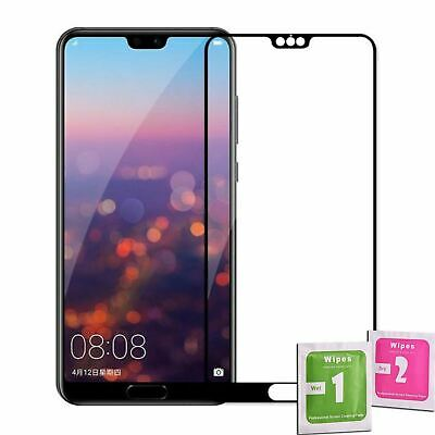Tempered Glass Screen Protector Full Cover 4D For HUAWEI P20 PRO BLACK