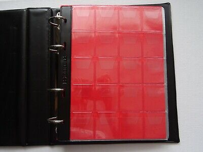 BURGUNDY COIN BOOK ALBUM 11 PAGES FOR 220 COINS (medium coins £2 ,50p,£1)FOLDER