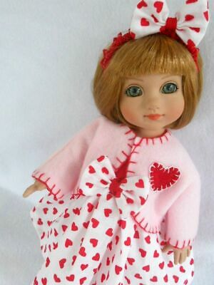 "ME Doll Dress Coat Bow Set For 10/"" Tonner Ann Estelle Patsy"