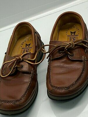 afce713cdd0 Mephisto Spinnaker Men's Boat Deck Shoes Leather Air Bag System Size 10.5 US