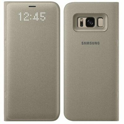 Genuine Samsung LED Notification Wallet Flip Case Cover For Galaxy S8 & S8+ GLD