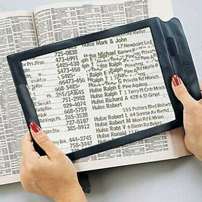 Full Page Magnifier Sheet 4x Big Large Magnifying Glass Reading Book Aid Lens