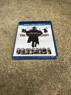 The Hateful Eight (Blu-ray/DVD, 2-Disc Set) Samuel L Jackson, Kurt Russell NEW