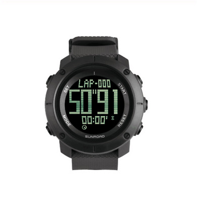 SUNROAD 5ATM waterproof Flash LCD screen Sports Wrist Watch with ECO function