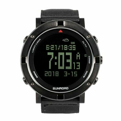 SUNROAD Outdoor Hiking Sports heart rate watch Altimeter Barometer Pedometer