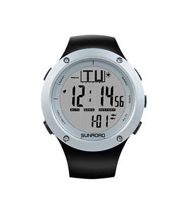 SUNROAD FR722A Fishing Wristwatch Camping Hiking altimeter barometer thermometer