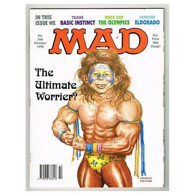 Mad Magazine October 1992 MBox3632/I The Ultimate Worrier!