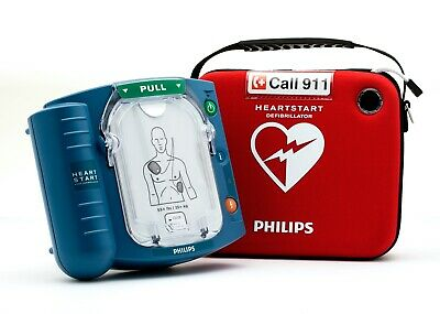 Philips Heartstart FRx AED HS1 Onsite Great Condition Free Shipping with Case