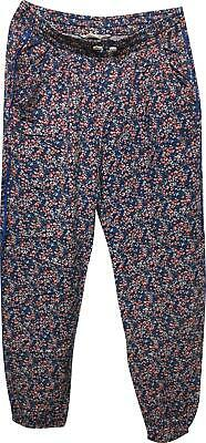 PRE-OWNED Girls H&M Blue Floral Trousers Size EUR 170