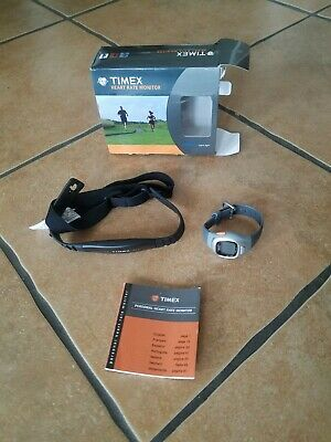 Timex Personal Trainer Heart Rate Monitor Watch WR 30M And Chest Strap
