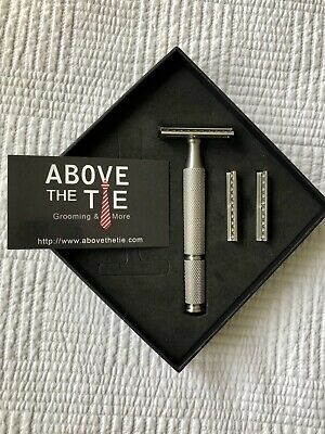 Above The Tie Stainless Steel Safety Razor Set.