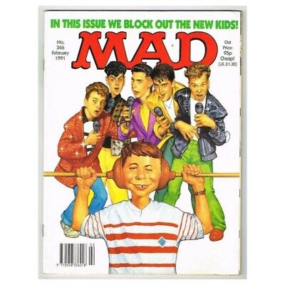 Mad Magazine February 1991 MBox3633/I We block out The New Kids