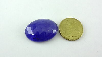 Natural Blue Tanzanite Faceted Slice Oval Shape 19X25mm 32Cts
