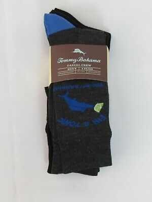New Men's Tommy Bahama 4-Pack Casual Crew Dress Socks, One Size Fits Most