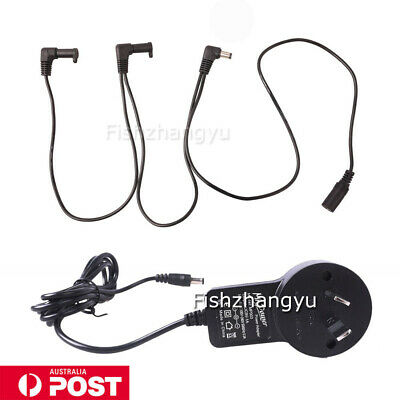 Guitar Pedal Power Supply Adapter AU Plug 9V DC 1A & 3 Way Splitter Cable Cord