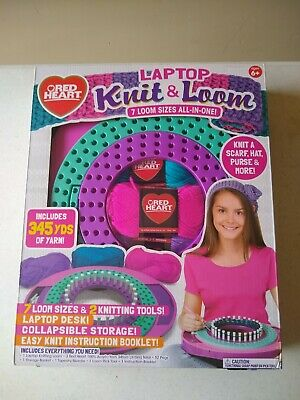 Horizon Group Laptop Knit & Loom - 7 Loom Sizes All-In-One (6278E)