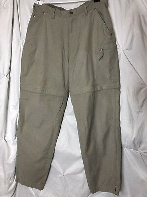 097dc05aa0 REI Outdoor zip-off convertible cargo Pants Mens Size 30x30 Khaki Hiking  Ripstop