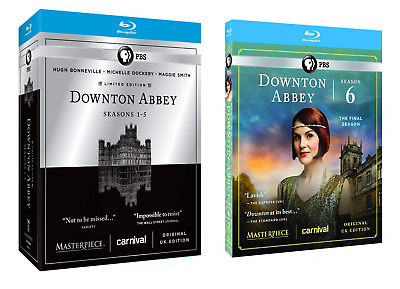 PBS Masterpiece: Downton Abbey Seasons 1-6 Complete Series Collection Blu-Ray