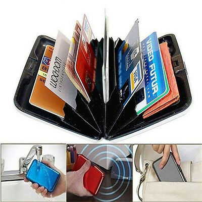 Useful Aluminum Wallet RFID Blocking Waterproof Credit Card Holder Case Pocket