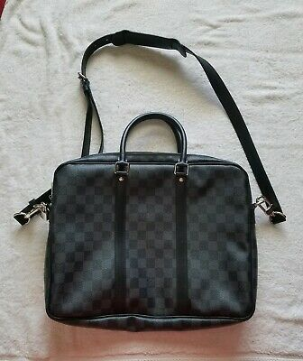 e9d4102c38 LOUIS VUITTON ANTON briefcase business bag handbag N40024 Damier Graphite  Gray