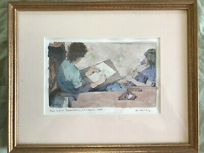 Dewitt Hardy Original Watercolor, signed and dated, 1985, Oqunquit Maine Artist