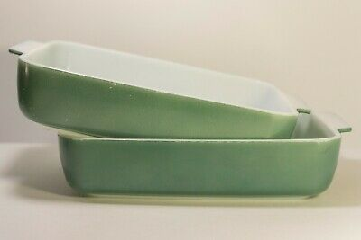 Seafoam Green Pyrex Set of 2 Green Pyrex Baking Dishes | Pyrex Promo Casserole