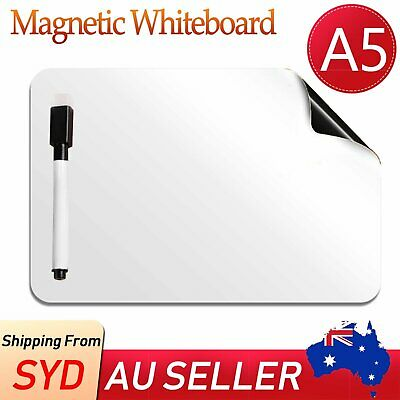 NEW A5 Fridge Magnetic Whiteboard + Board Pen Marker Eraser Memo Reminder Magnet