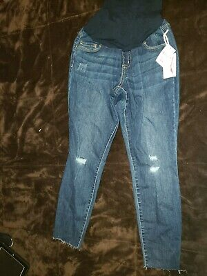 e109dc47de941 Jessica Simpson Crop Maternity Jeans Size Medium NWT Dark Wash Full Panel