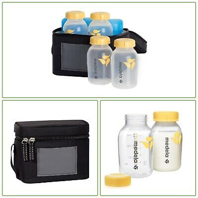 BABY BOTTLE COOLER BAG Breast Milk Transport Bottle Feeding BPA-Free 6-Pc Set