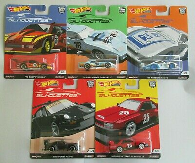 2019 Hot Wheels Premium Car Culture SILHOUETTES Set of 5. (Real Riders)