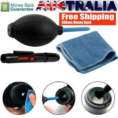 Lens Cleaning Cleaner Dust Pen Blower Brush Cloth Kit For DJI Osmo Action Cam AU