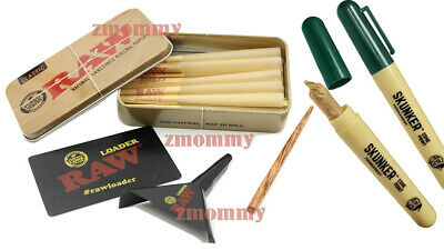 Raw Loader with 15 Raw Lean Cones 15  plus Free Raw Tin With SKUNKER PEN