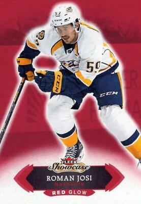 2016-17 Fleer Showcase Red Glow #27 Roman Josi Predators