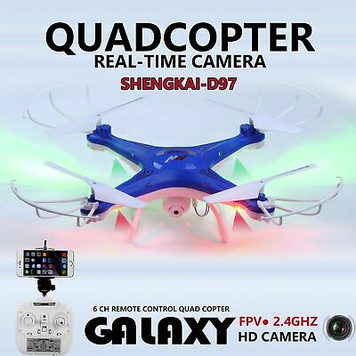 RC Drone SKD97 FPV 2.4G 4CH 6-Axis Quadcopter HD WIFI 2MP Camera Headless Mode