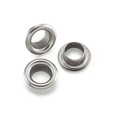 20pcs 304 Stainless Steel Grommet Rivet Eyelets European Charms Cores 5mm Hole