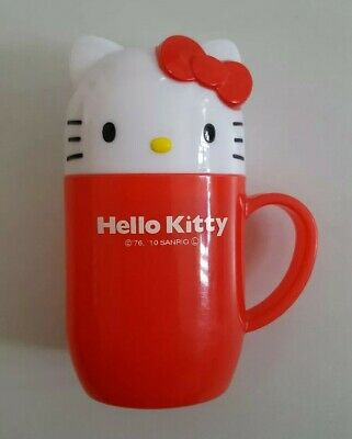 Hello Kitty Sanrio Japan Travel Cup Face Towel Container
